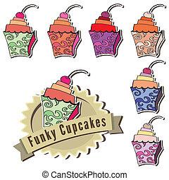 Funky contemporary cupcakes
