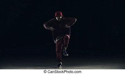 Funky Dancer - Close up of male dancer performing hip hop...