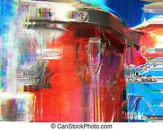 funky drums - filtered macro of drums