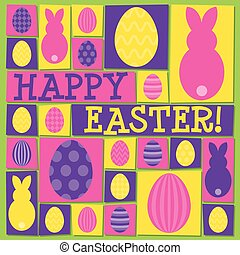 Funky Easter card in vector format.
