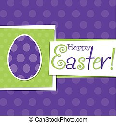 Funky Easter egg card in vector format.