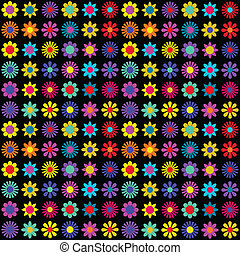 Funky floral pattern