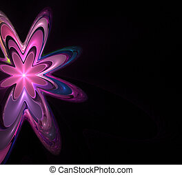 funky flower - funky retro style floral background