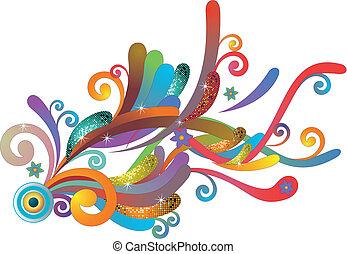 funky flowing pattern
