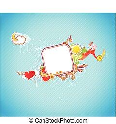 funky frame - Vector illustration of funky styled design...