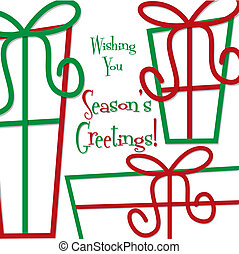 Funky gift Christmas card in vector format.