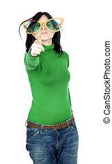 Funky Girl Gun Gesture