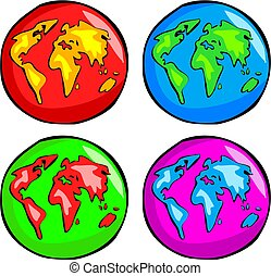 Funky Globes