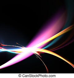 Funky Glowing Strands Background - Abstract fluid and plasma...