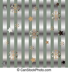 Funky Gradient Pattern with Stars and Flakes. Winter Theme