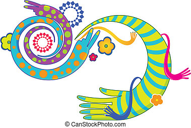 funky hands pattern design.
