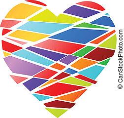 Funky heart - Funky Valentines heart