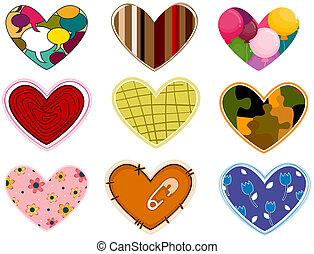 Funky Heart Patches