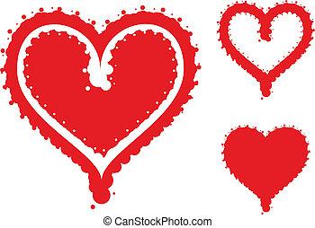 Funky heart set