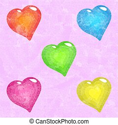 funky hearts background