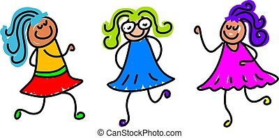 funky kids - cute and colourful kids - toddler art