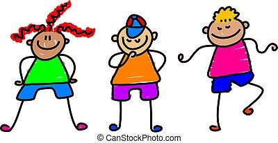 funky kids - cute little kids - toddler art