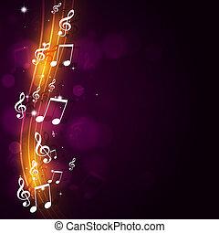 funky, música, fundo
