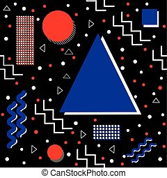 Funky Memphis Pattern on Black