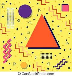 Funky Memphis Pattern on Yellow