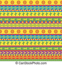funky mexican pattern - vector seamless mexican pattern in...