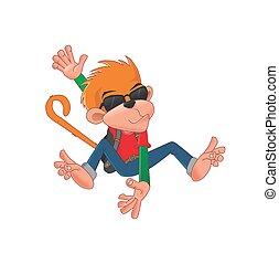 Funky Monkey cartoon