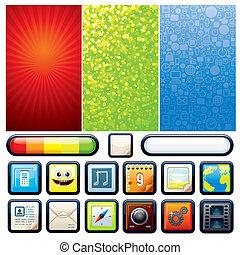 Funky Phone Set. Vector Graphics - Funky Phone Set....