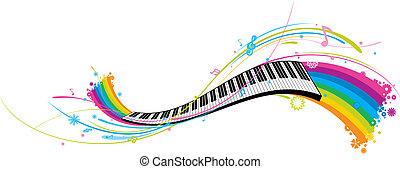 funky piano keys.
