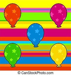 funky retro balloons