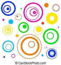 funky retro circles background