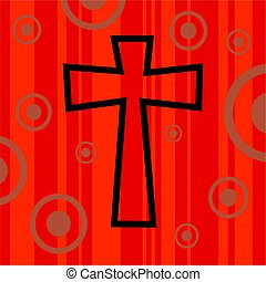 funky retro cross