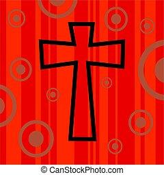 funky, retro, crucifixos