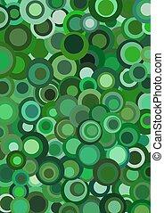 Funky retro green