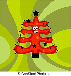 funky retro tree