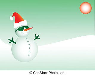 Funky Santa snowman, eps8