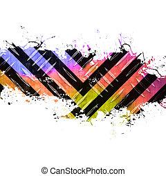 Funky Splattered Hazard Stripes
