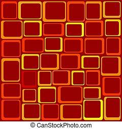 Funky Squares Illustration -