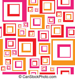 Funky Squares Pattern - A retro looking squares pattern that...