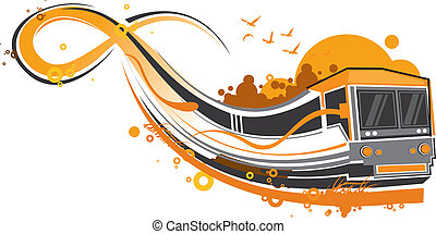 train - funky train pattern design.