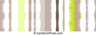 Funky Vertical Stripes Seamless Background. Hand Painted Lines Design. Dirty Distress Trace. Cool Vector Watercolor Paint Lines.