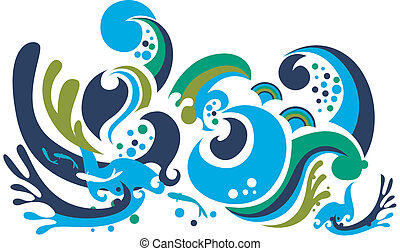 funky waves pattern design background.