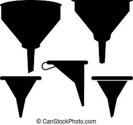 Funnel Icon Set Vector Illustration
