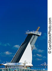 Funnel of cruise ship