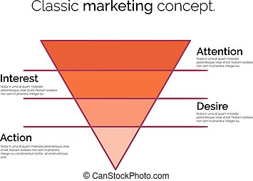 Funnel symbol. Template for marketing, conversion or sales.