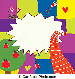 Funny abstract background for children