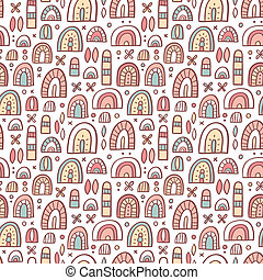 Funny abstract shapes seamless pattern