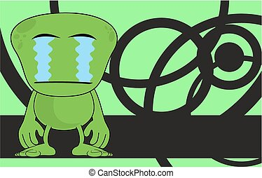 funny alien cartoon background13