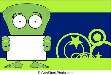 funny alien cartoon background9