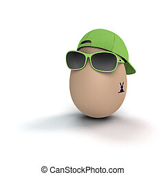 cool easter egg - funny and cool easter egg with bunny...
