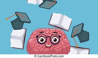 Funny and cute brain cartoon HD animation